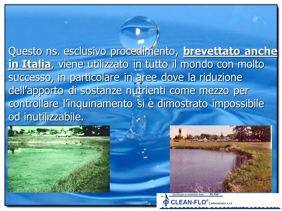 Questo ns. esclusivo procedimento, brevettato anche in Italia, viene utilizzato in tutto il mondo con molto successo, in particolare in aree dove la r