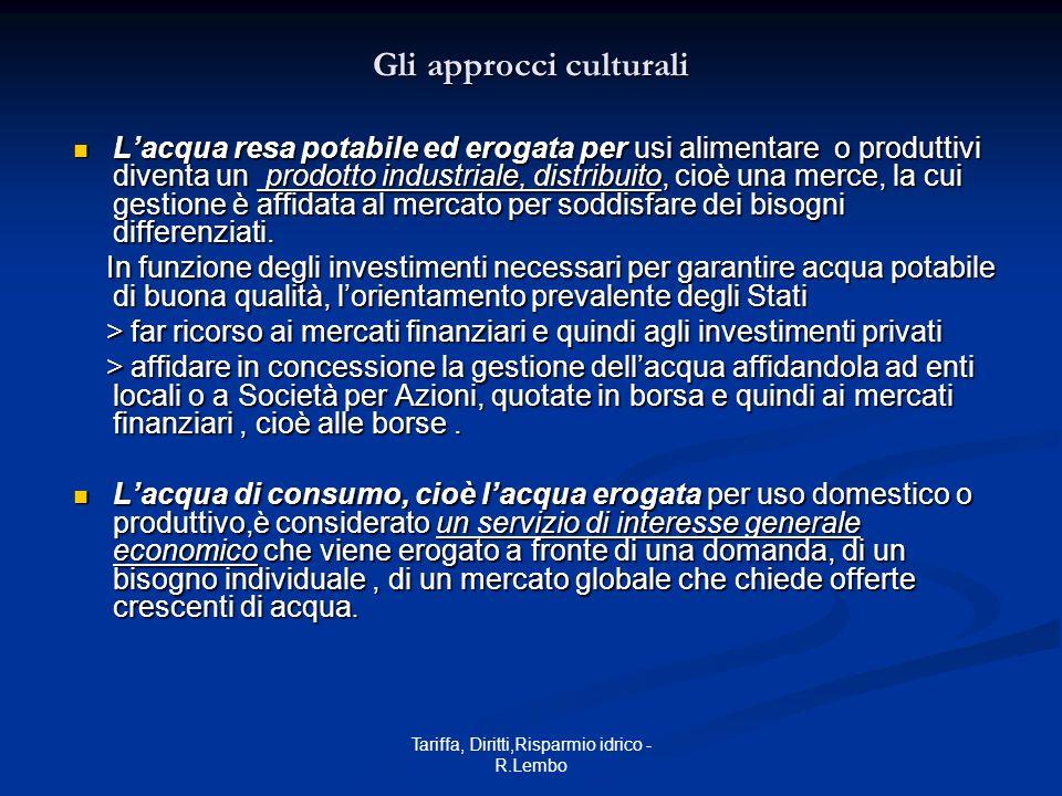 Tariffa, Diritti,Risparmio idrico - R.Lembo 2.