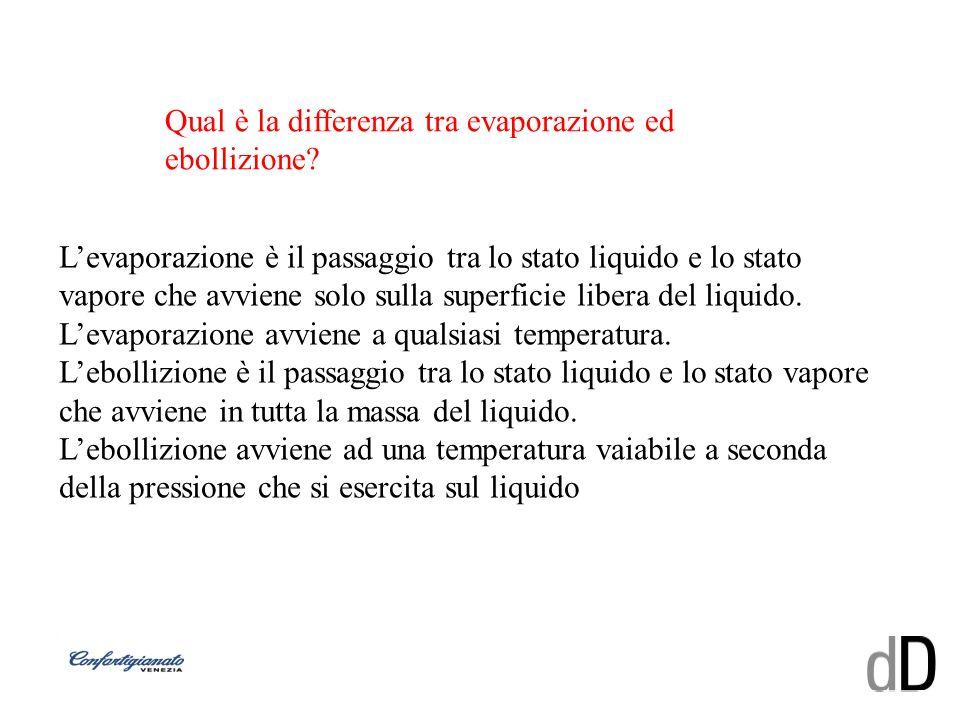 Qual è la differenza tra evaporazione ed ebollizione? Levaporazione è il passaggio tra lo stato liquido e lo stato vapore che avviene solo sulla super
