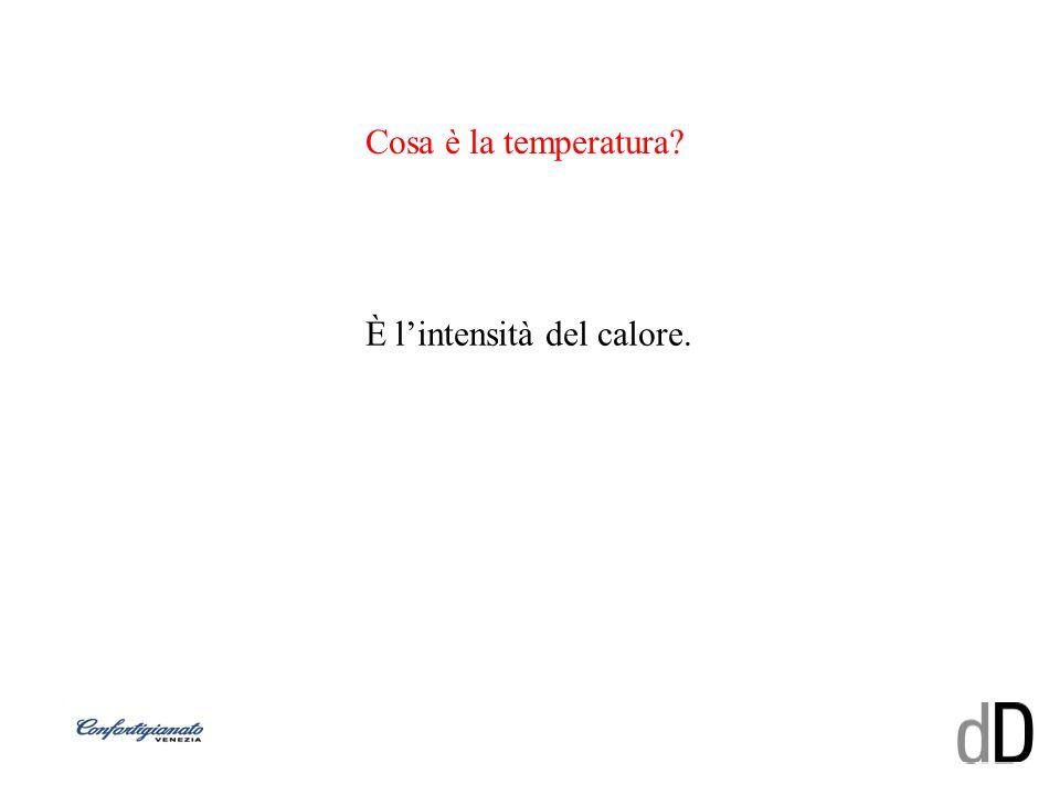 Cosa è la temperatura? È lintensità del calore.