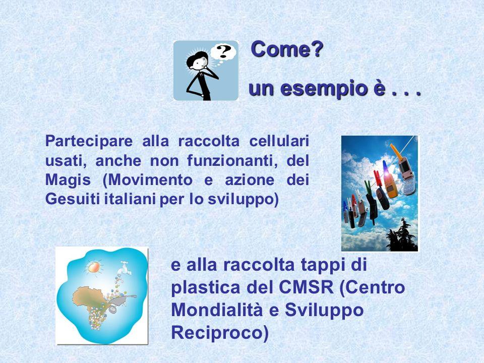 Partecipare alla raccolta cellulari usati, anche non funzionanti, del Magis (Movimento e azione dei Gesuiti italiani per lo sviluppo) Come.