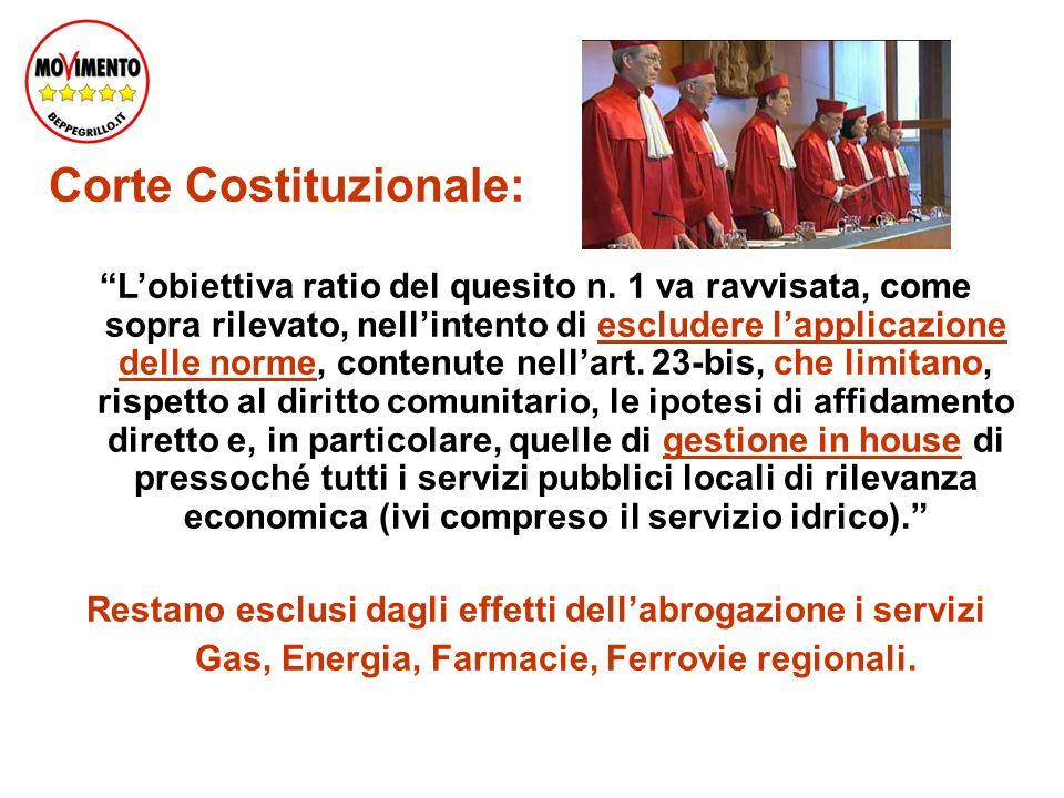 Corte Costituzionale: Lobiettiva ratio del quesito n.
