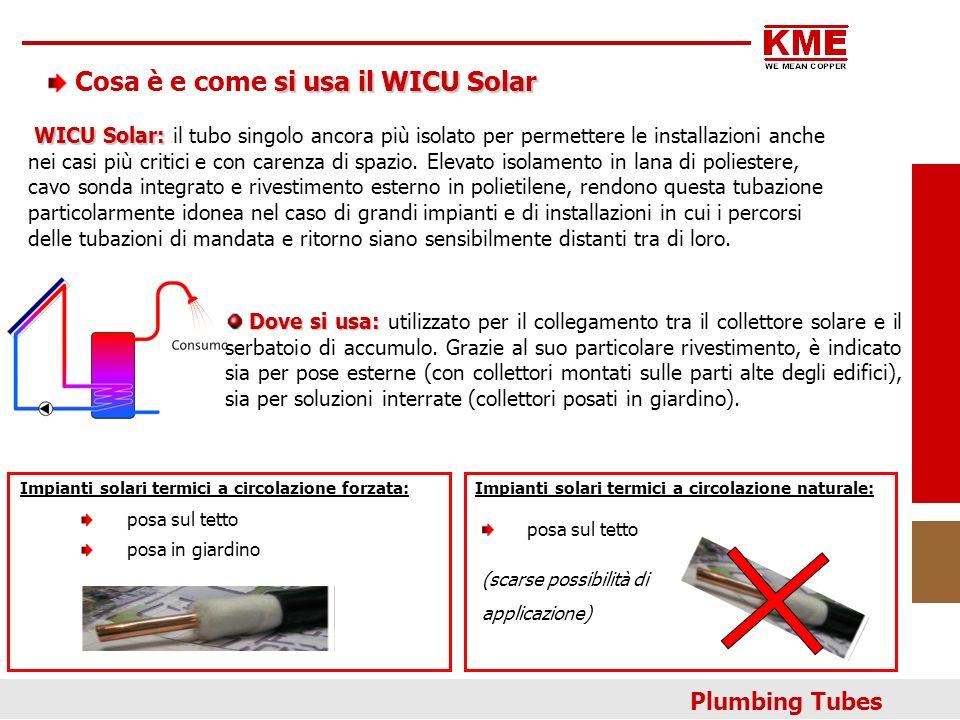 Dove si usa: Dove si usa: utilizzato per il collegamento tra il collettore solare e il serbatoio di accumulo. Grazie al suo particolare rivestimento,