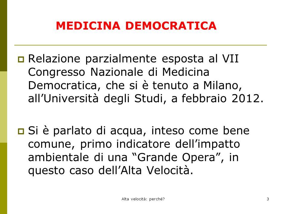 Relazione parzialmente esposta al VII Congresso Nazionale di Medicina Democratica, che si è tenuto a Milano, allUniversità degli Studi, a febbraio 2012.