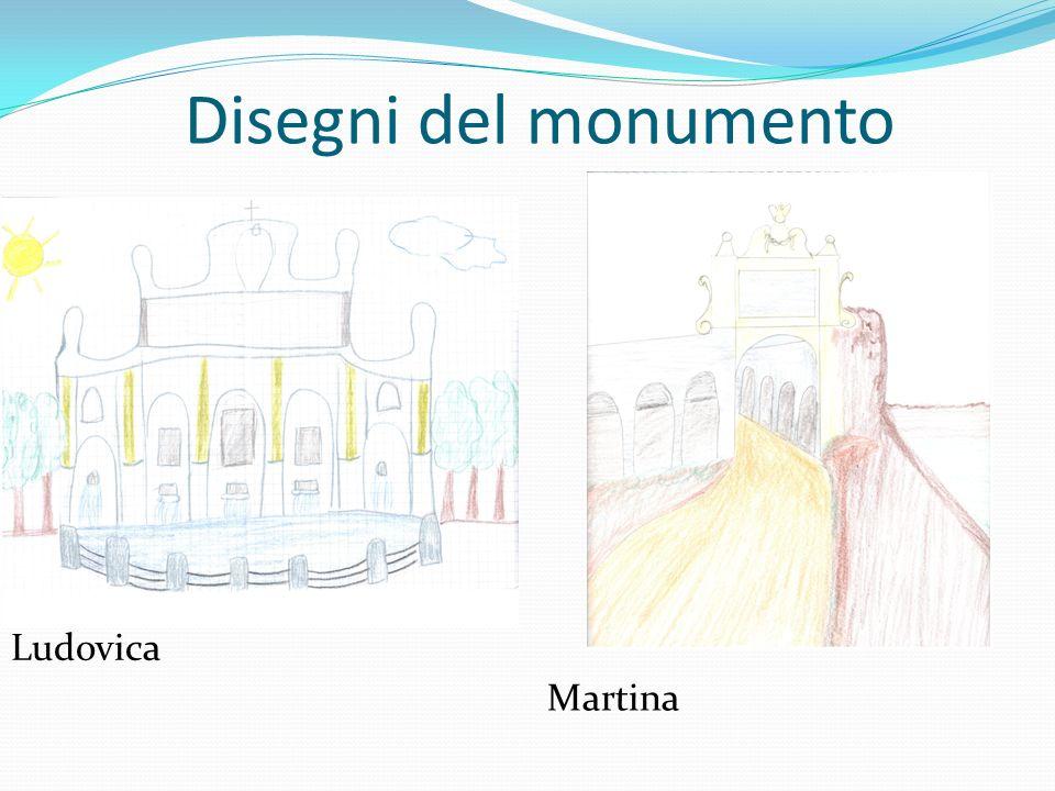 Disegni del monumento Ludovica Martina