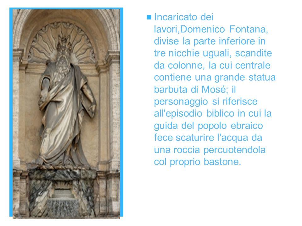 + Ciascuna delle nicchie laterali contiene un grosso pannello, raffigurante un diverso episodio biblico correlato all acqua.