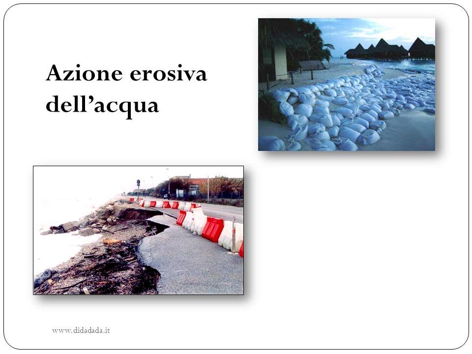 Azione erosiva dellacqua www.didadada.it