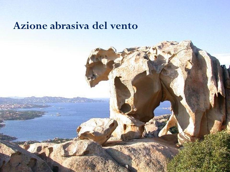 Azione abrasiva del vento www.didadada.it