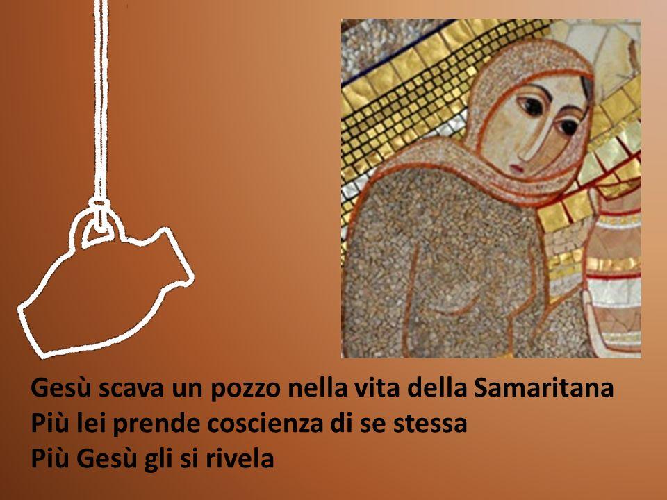 Gesù scava un pozzo nella vita della Samaritana Più lei prende coscienza di se stessa Più Gesù gli si rivela