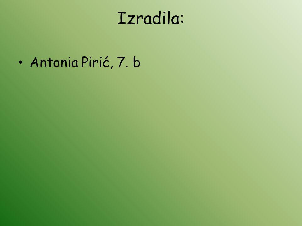 Izradila: Antonia Pirić, 7. b