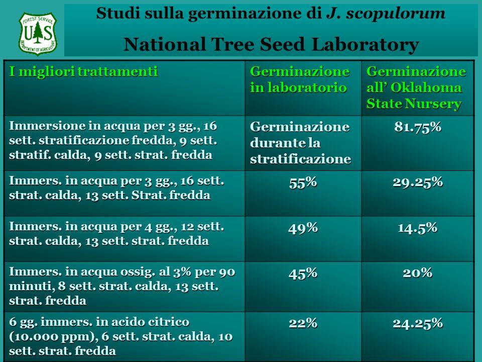 Studi sulla germinazione di J.