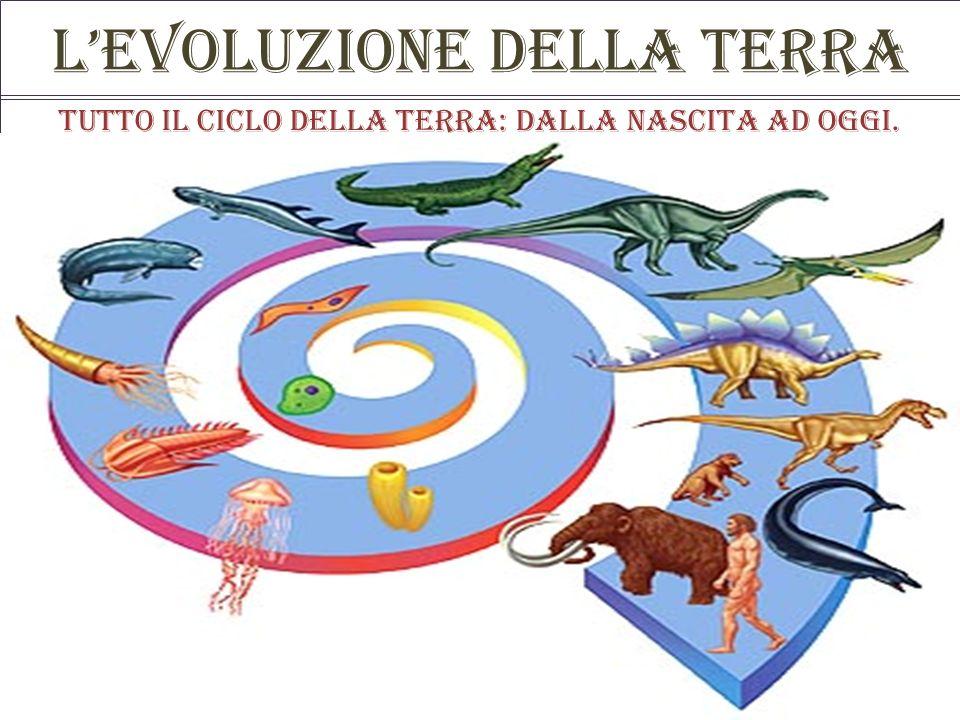 Levoluzione della terra Tutto il ciclo della terra: dalla nascita ad oggi.