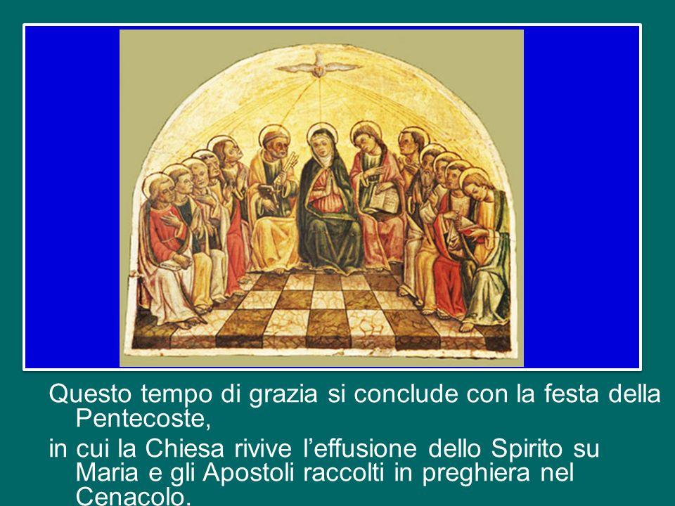 Il tempo pasquale che con gioia stiamo vivendo, guidati dalla liturgia della Chiesa, è per eccellenza il tempo dello Spirito Santo donato «senza misur