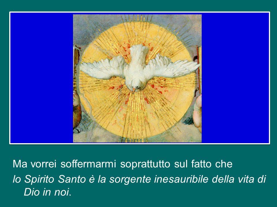 Lo Spirito Santo, infatti, è la terza Persona della Santissima Trinità; è il grande dono del Cristo Risorto che apre la nostra mente e il nostro cuore