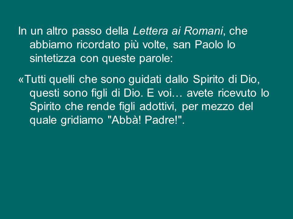 Lo Spirito Santo ci introduce nella vita divina come