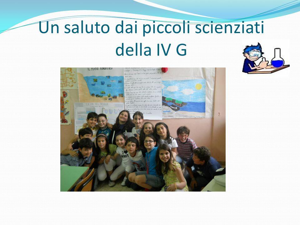 Un saluto dai piccoli scienziati della IV G