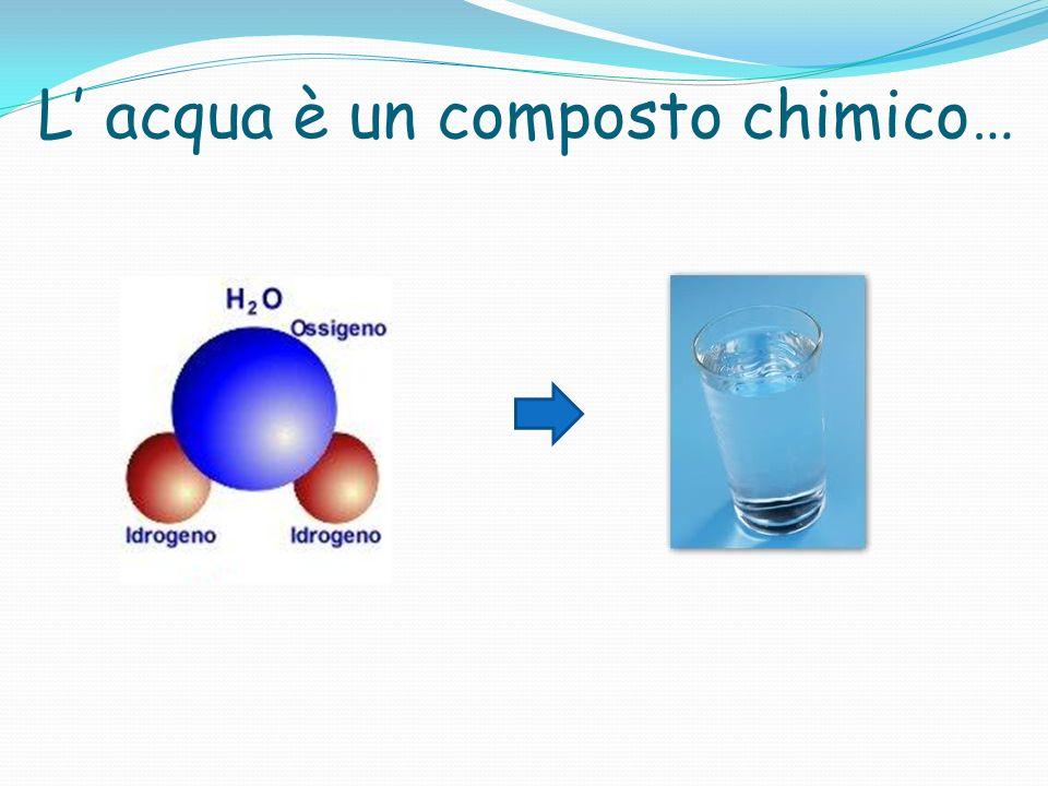 L acqua è un composto chimico…