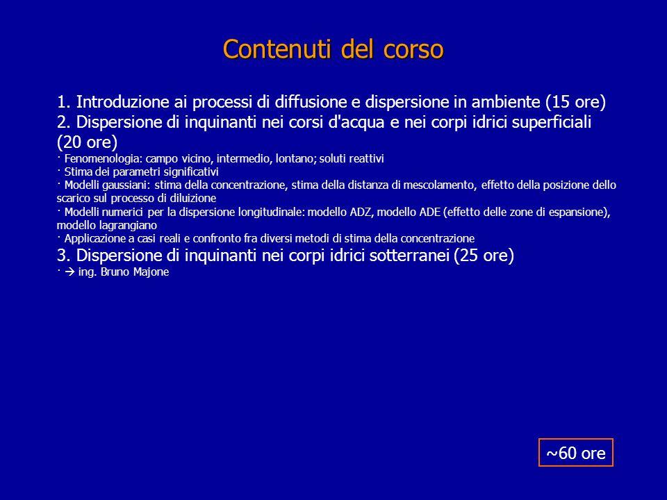 Appunti del corso.Dispense del corso di Idraulica ambientale: 1) G.
