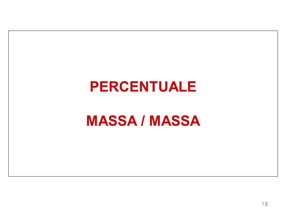 18 PERCENTUALE MASSA / MASSA