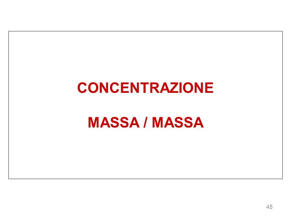 45 CONCENTRAZIONE MASSA / MASSA