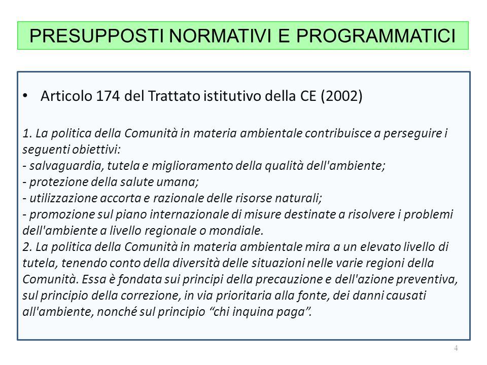 Articolo 174 del Trattato istitutivo della CE (2002) 1.