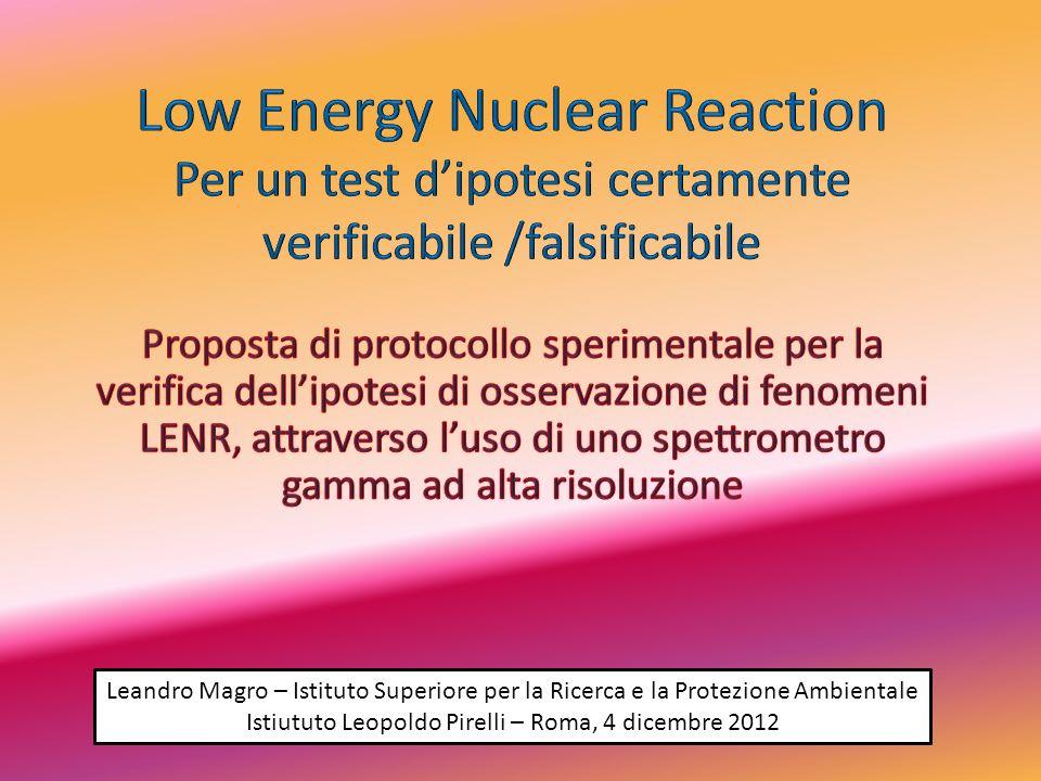 Leandro Magro – Istituto Superiore per la Ricerca e la Protezione Ambientale Istiututo Leopoldo Pirelli – Roma, 4 dicembre 2012