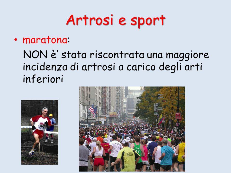 Artrosi e sport maratona: NON è stata riscontrata una maggiore incidenza di artrosi a carico degli arti inferiori