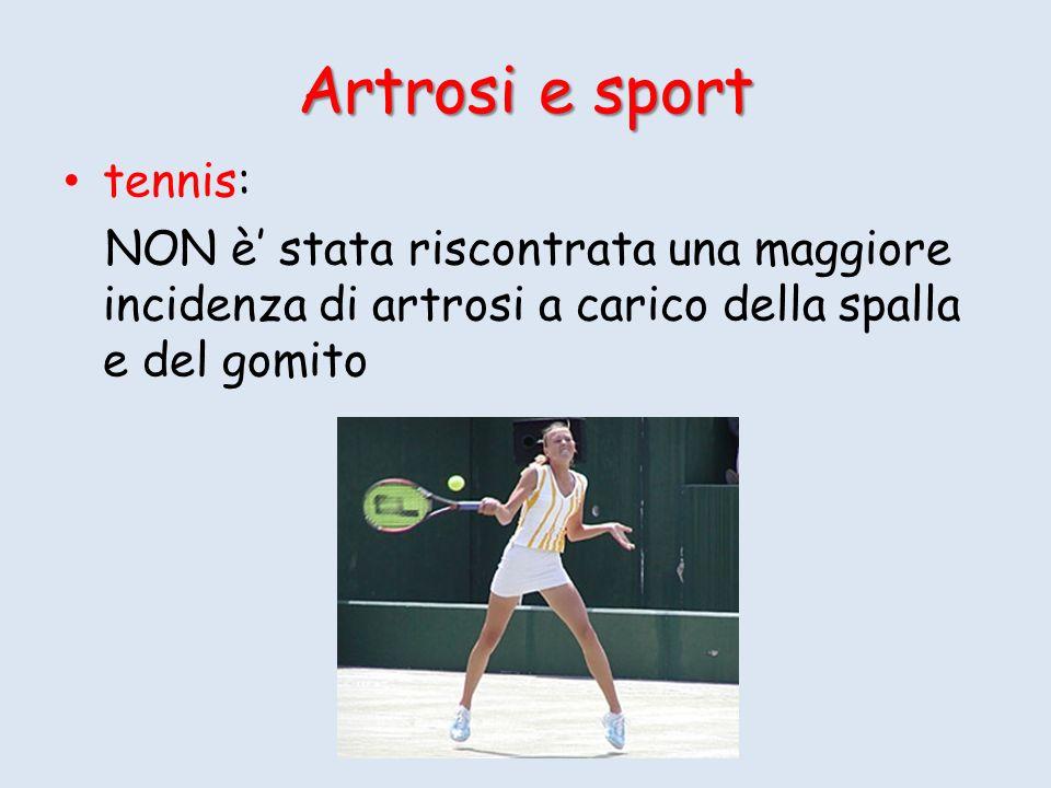 Artrosi e sport tennis: NON è stata riscontrata una maggiore incidenza di artrosi a carico della spalla e del gomito