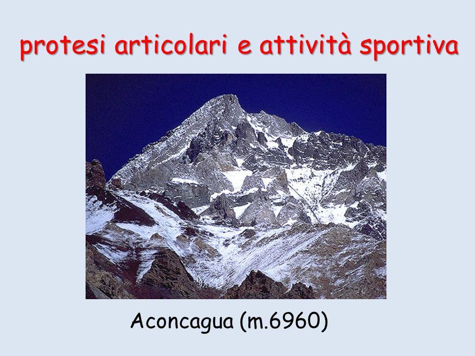 protesi articolari e attività sportiva Aconcagua (m.6960)