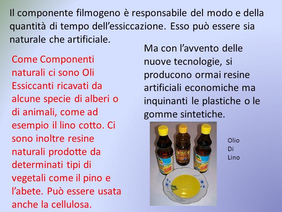 I solventi hanno lo scopo di rendere più fluido il filmogeno e gli altri componenti della pittura.