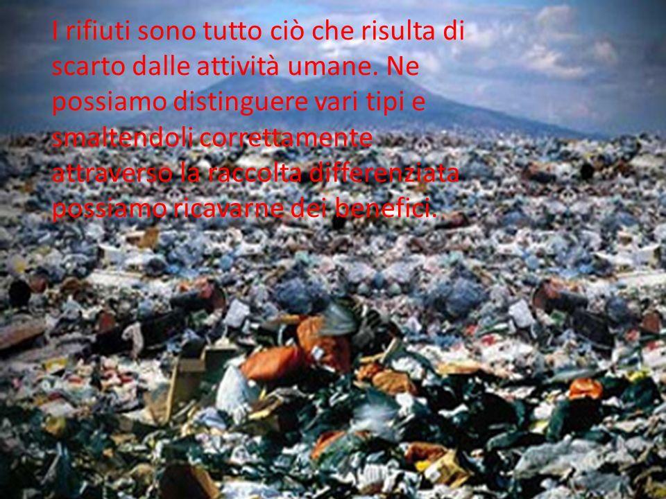 I rifiuti sono tutto ciò che risulta di scarto dalle attività umane. Ne possiamo distinguere vari tipi e smaltendoli correttamente attraverso la racco