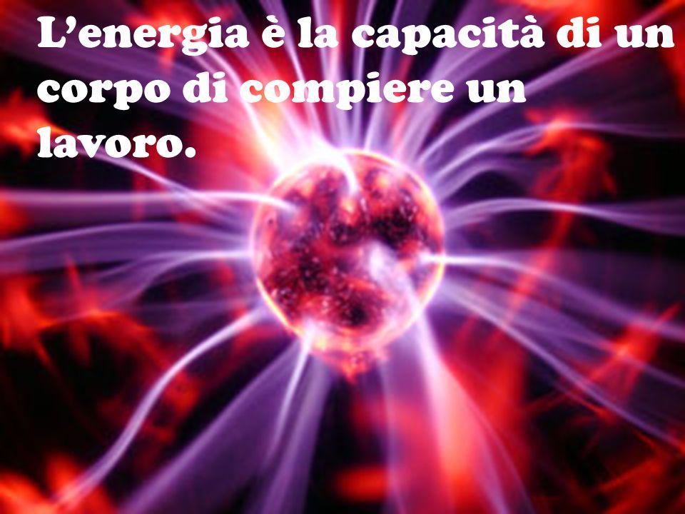 Lenergia è la capacità di un corpo di compiere un lavoro.