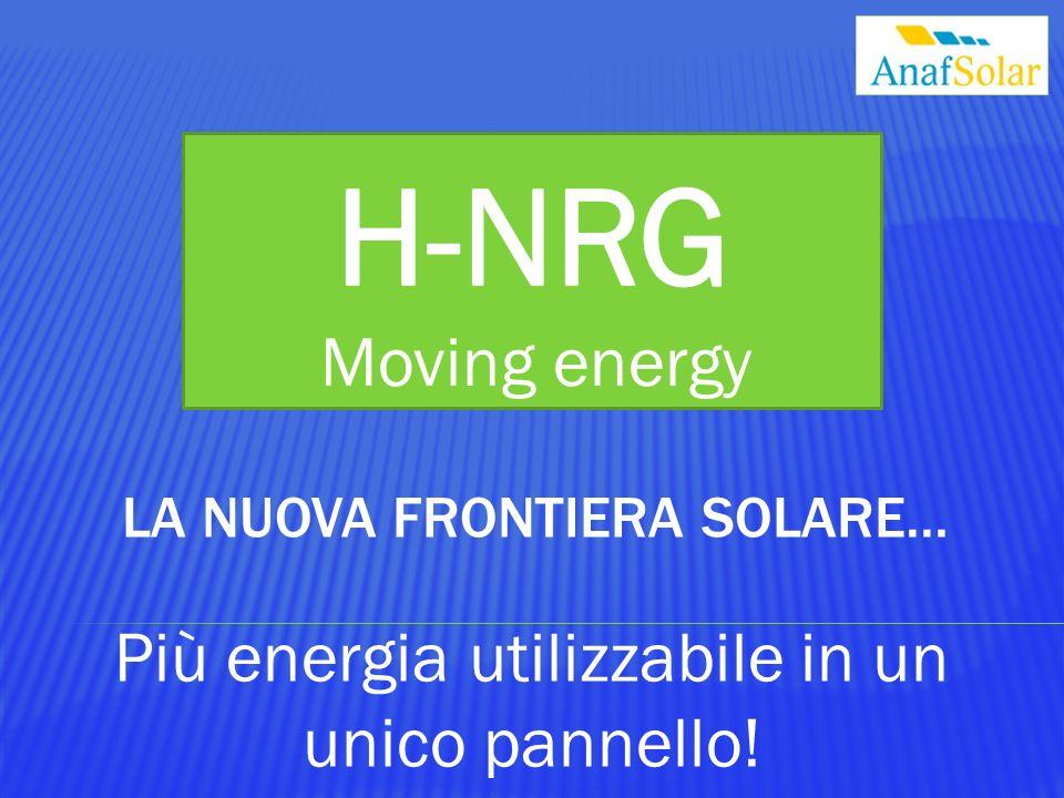 Moving energy Più energia utilizzabile in un unico pannello!