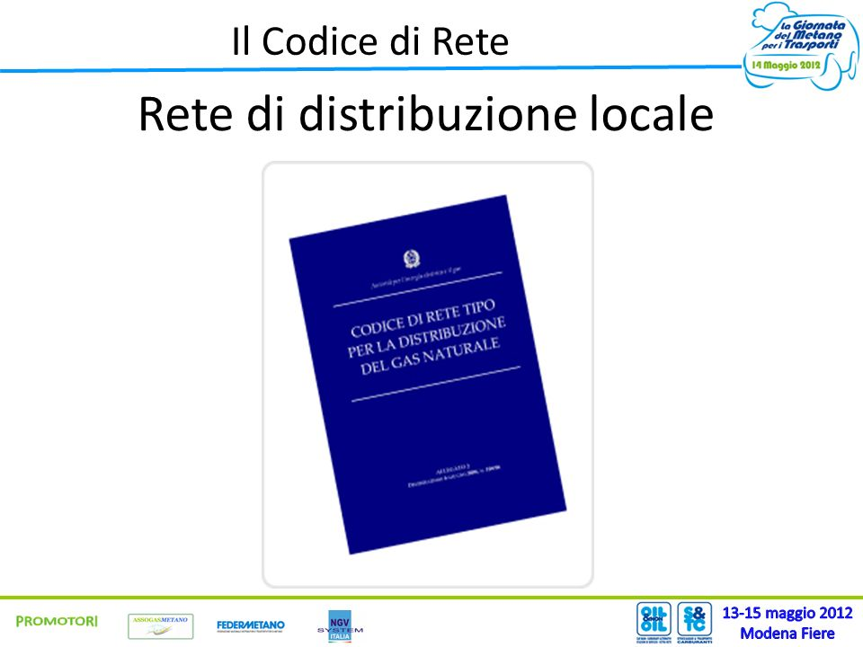 Il Codice di Rete Rete di distribuzione locale