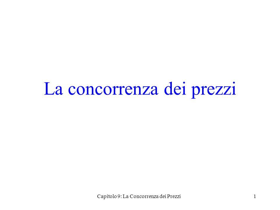 La concorrenza dei prezzi Capitolo 9: La Concorrenza dei Prezzi1