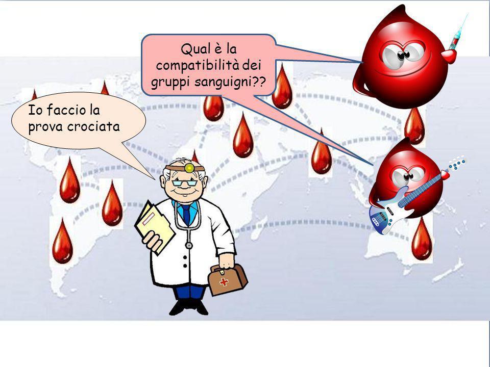 Io faccio la prova crociata Qual è la compatibilità dei gruppi sanguigni??