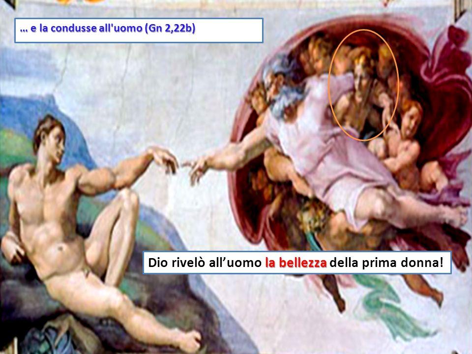 22 Il Signore Dio costruì una donna con la costola [lato] che aveva tolto alluomo...