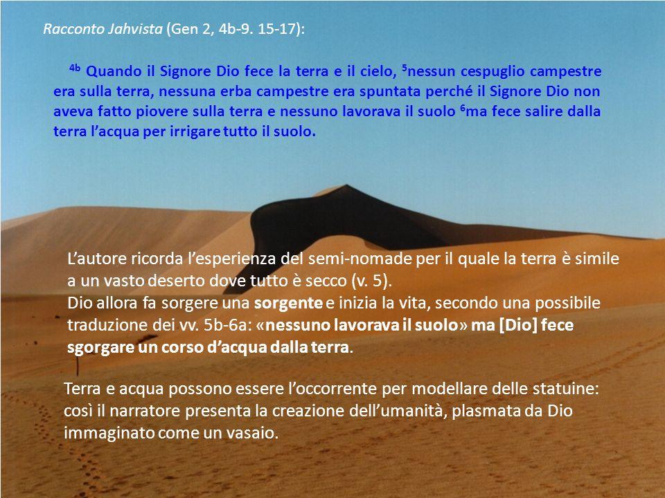 Racconto Jahvista (Gen 2, 4b-9.