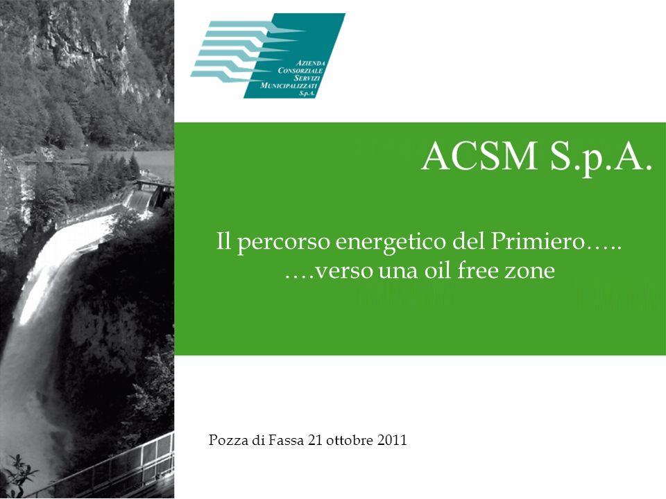 Il percorso energetico del Primiero….. ….verso una oil free zone Pozza di Fassa 21 ottobre 2011
