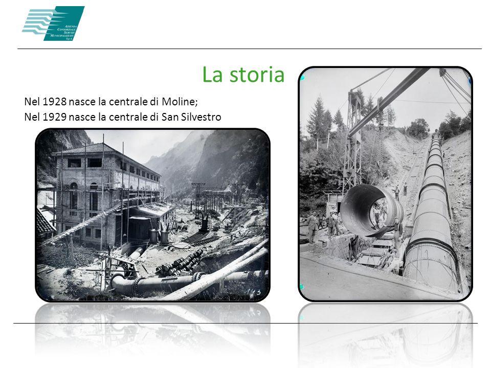 La storia Nel 1928 nasce la centrale di Moline; Nel 1929 nasce la centrale di San Silvestro