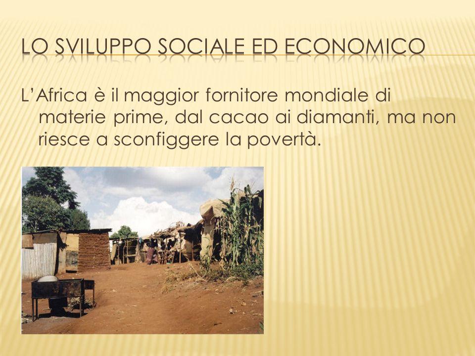 LAfrica è il maggior fornitore mondiale di materie prime, dal cacao ai diamanti, ma non riesce a sconfiggere la povertà.