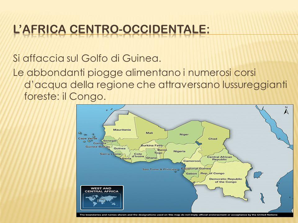Si affaccia sul Golfo di Guinea. Le abbondanti piogge alimentano i numerosi corsi dacqua della regione che attraversano lussureggianti foreste: il Con