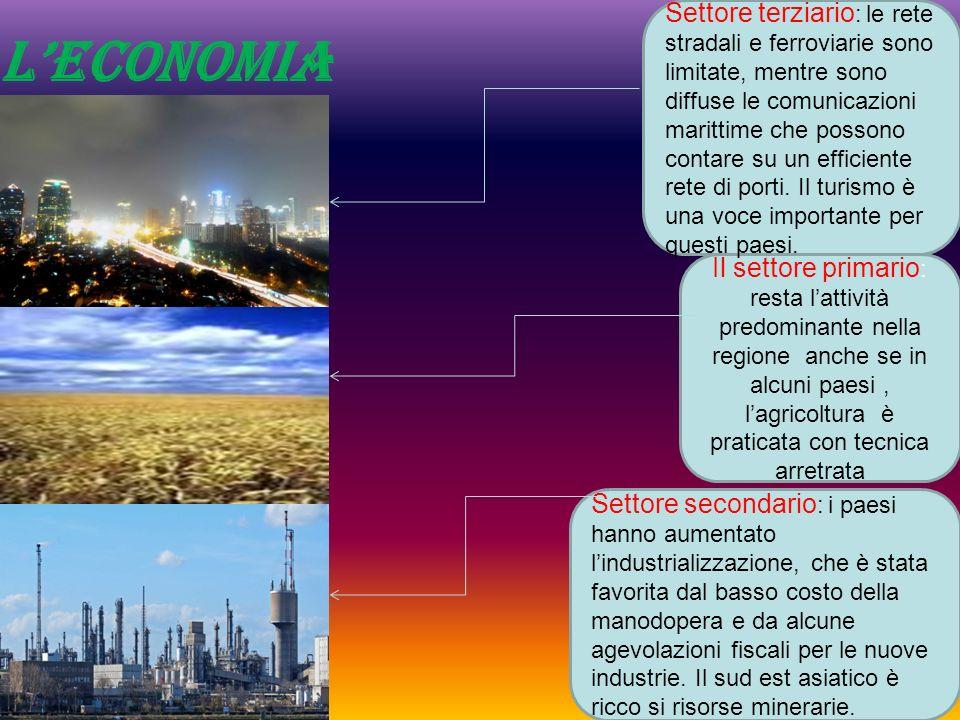 Leconomia Il settore primario : resta lattività predominante nella regione anche se in alcuni paesi, lagricoltura è praticata con tecnica arretrata Se