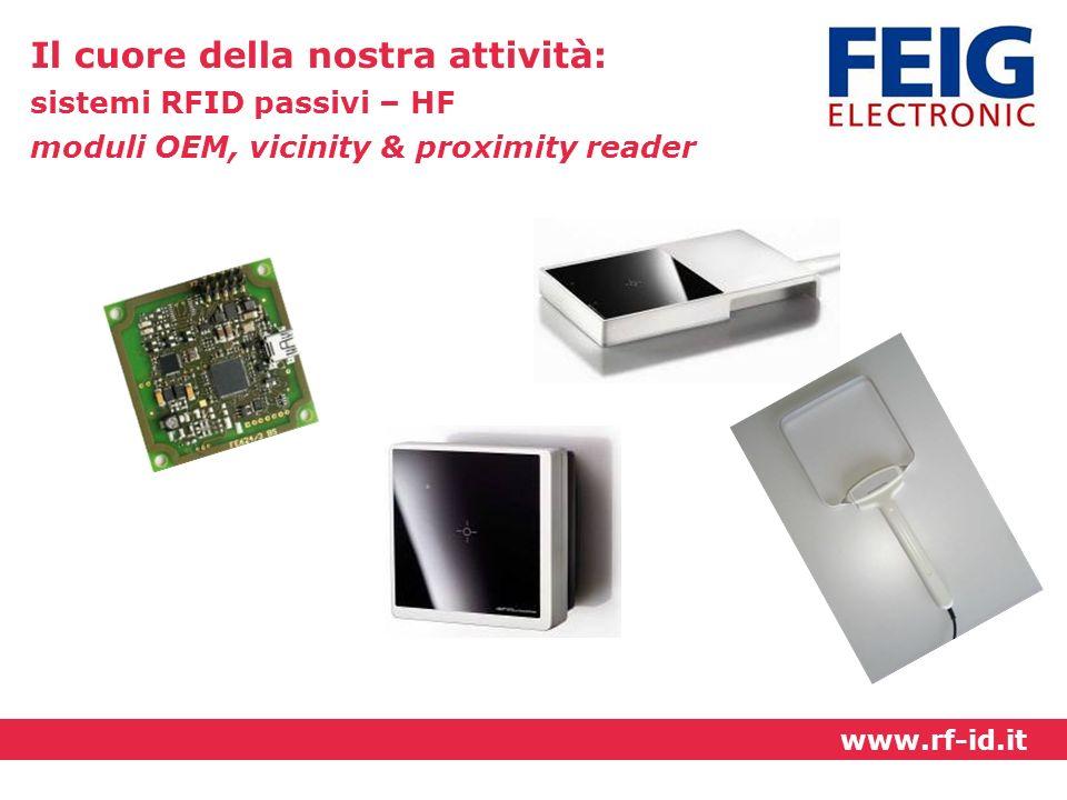 Il cuore della nostra attività: sistemi RFID passivi – HF moduli OEM, vicinity & proximity reader www.rf-id.it