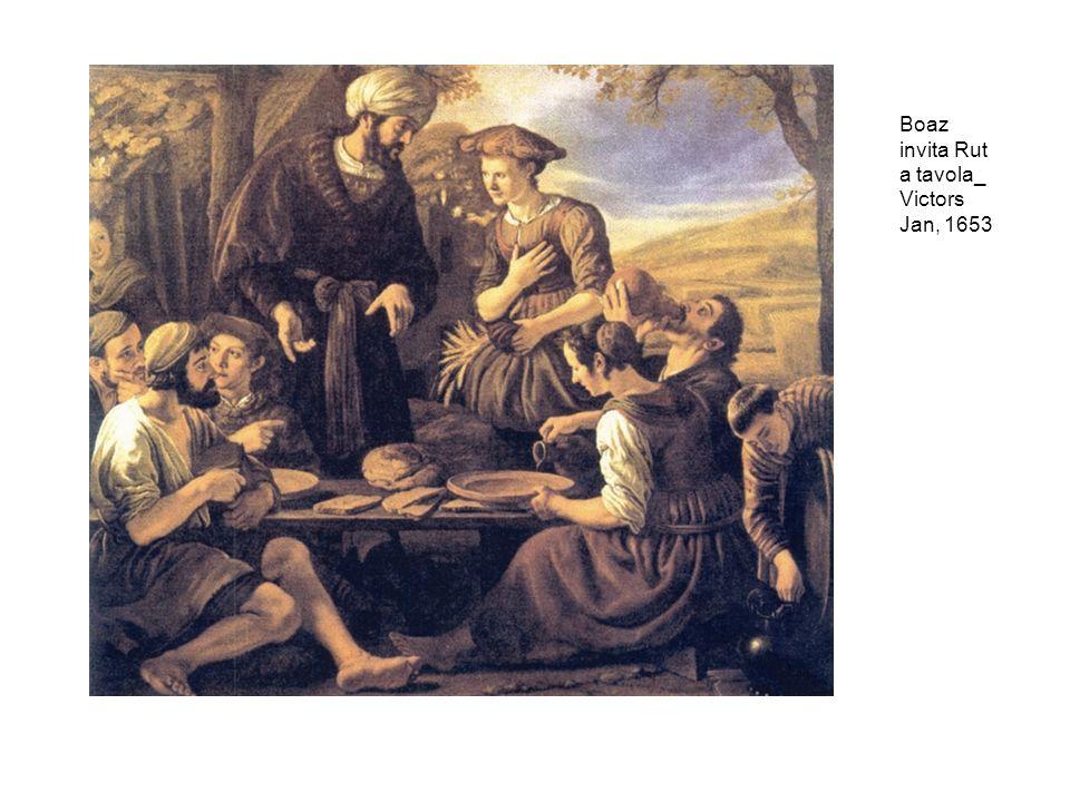 Boaz invita Rut a tavola_ Victors Jan, 1653