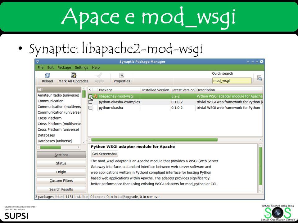 Synaptic: libapache2-mod-wsgi Apace e mod_wsgi
