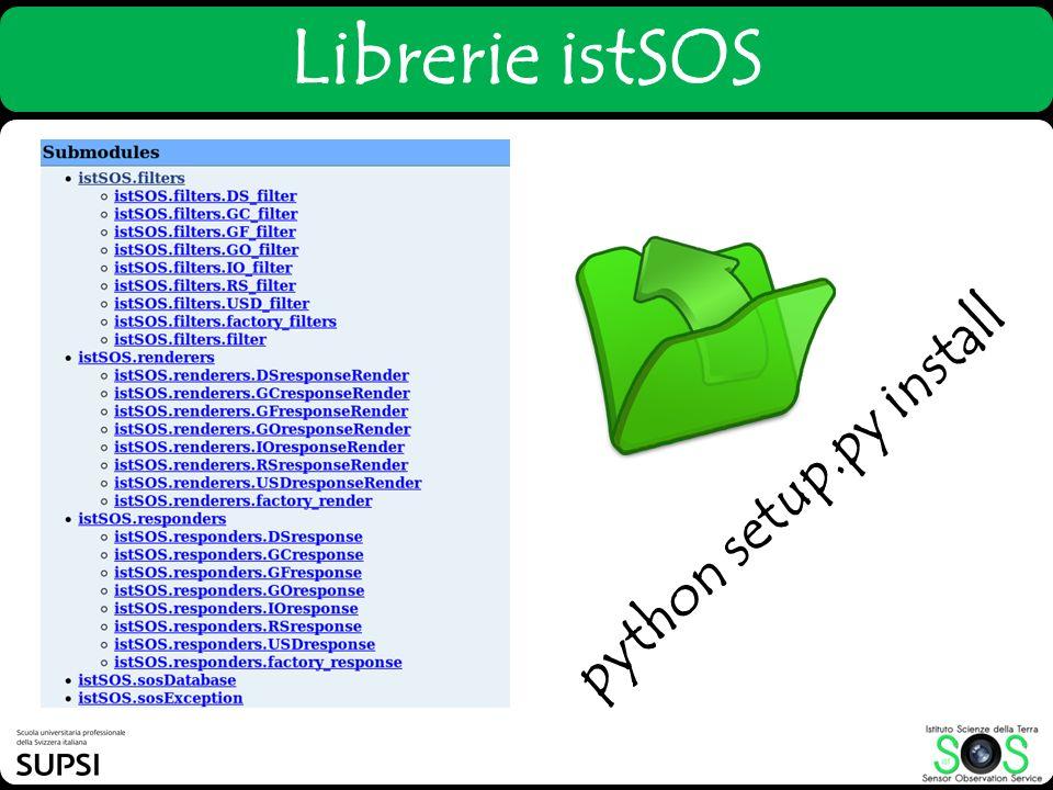 Librerie istSOS python setup.py install