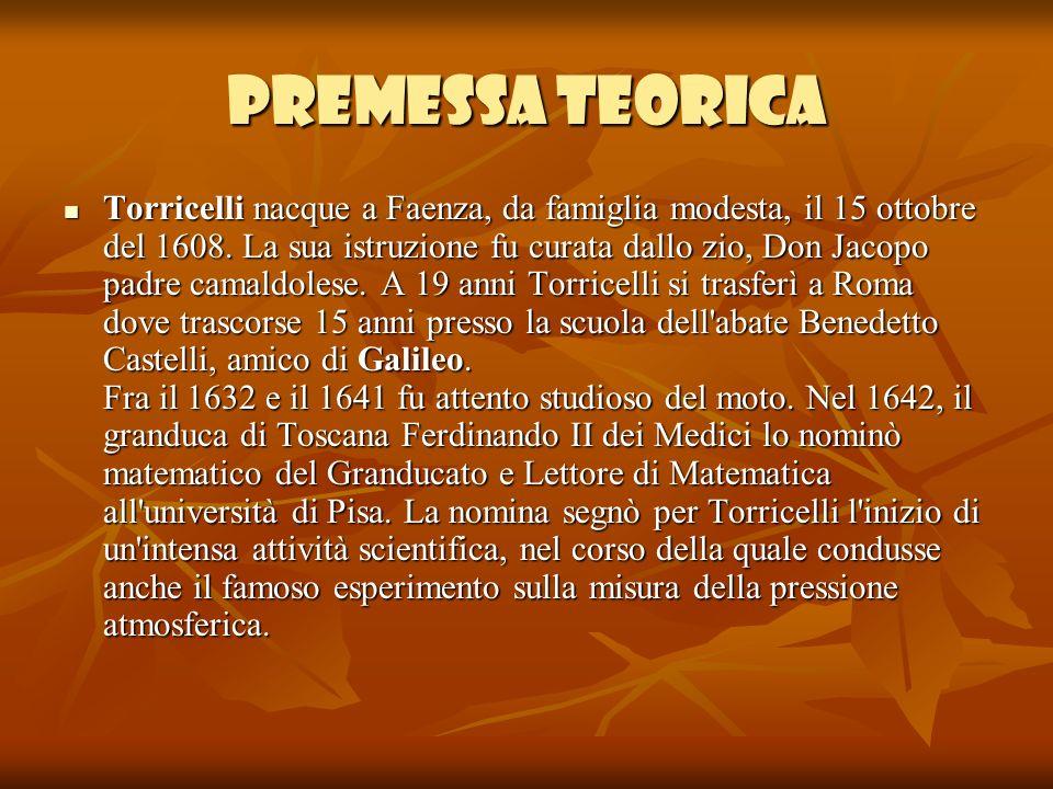 Laria è un fluido,il primo a misurare la pressione atmosferica fu Evangelista Torricelli: egli proseguì numerosi esperimenti per dimostrare che la pressione atmosferica è costante.