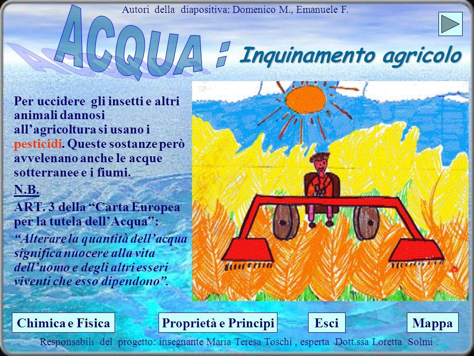 La distribuzione dellacqua sulla Terra Autori della diapositiva : Ciro I., Zuaira I. Questo fatto serve a ricordarci che lacqua è un elemento indispen