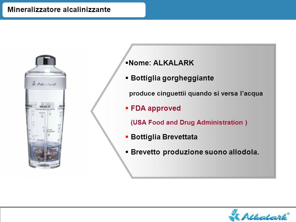 Nome: ALKALARK Bottiglia gorgheggiante produce cinguettii quando si versa lacqua FDA approved (USA Food and Drug Administration ) Bottiglia Brevettata